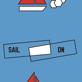 SAIL ON by Lawrence Weiner