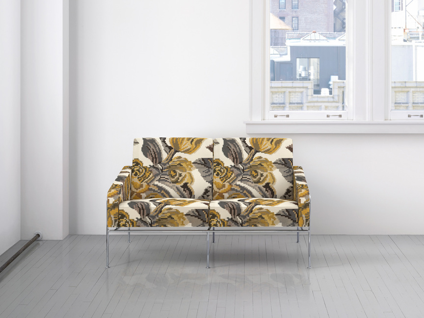 Maharam Product Textiles Deconstructed Rose 001 Golden